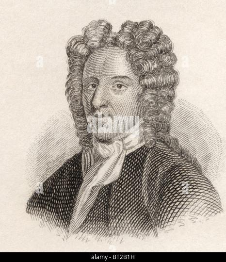 George Farquhar, 1677 to 1707. Irish dramatist. - Stock Image