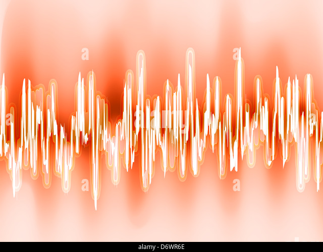 Sound waves oscillating glow light. EPS 8 - Stock-Bilder