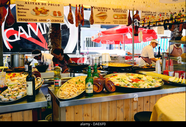 Spain cafe promenade stock photos spain cafe promenade - Stock uno alicante ...