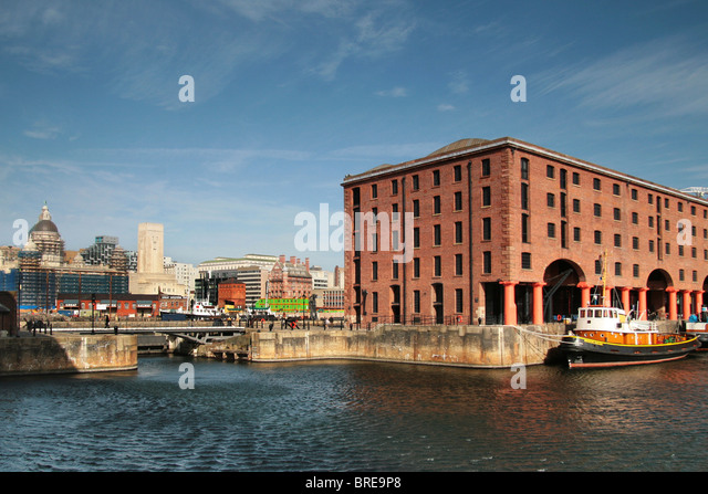 Albert Docks, Liverpool, England, UK - Stock-Bilder