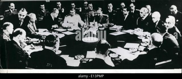 Mar. 22, 2012 - Picture Shows Potsdam Conference 1945. ''US Filmteam Produces 'The Meeting at Potsdam' - Stock Image