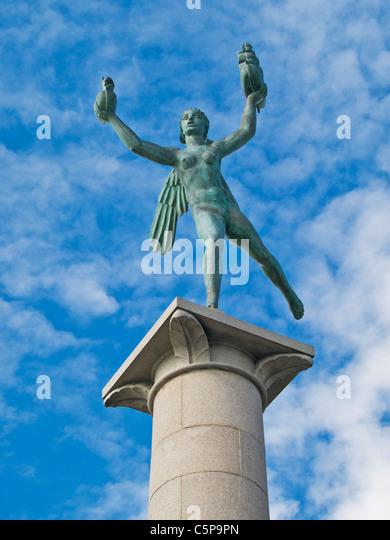 Detail photo of Sailors Monument, Helsingborg Municipality, Skane County, Scania, Sweden, Europe - Stock Image