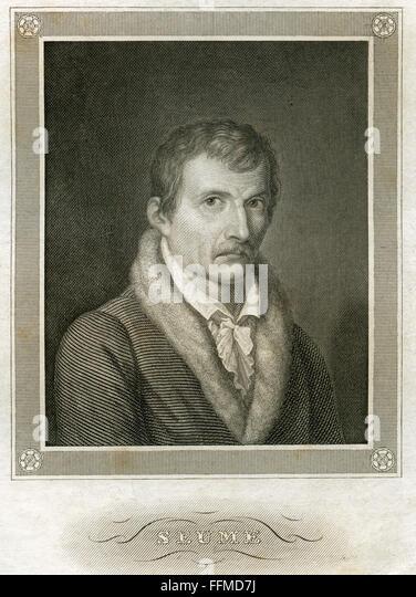 Johann Gottfried Seume, circa 1850 - Stock-Bilder
