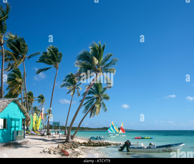 Punta Cana Beach, Dominican Republic, Caribbean - Stock Image