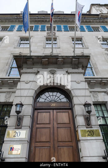 The Royal College of Nursing in Cavendish Square London UK - Stock Image