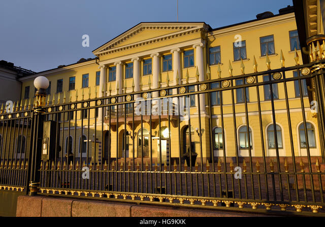 Presidential Palace, Helsinki Finland - Stock Image