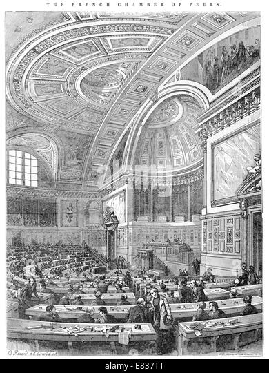 Political cartoon 1800s stock photos political cartoon for French chamber