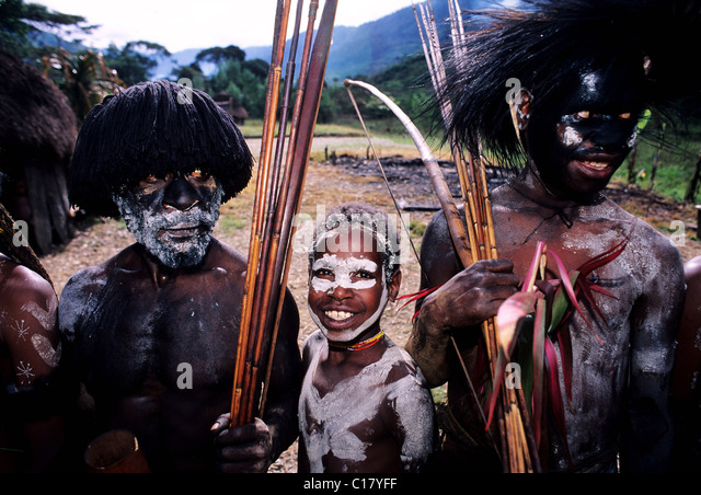 Indonesia, Papua, Irian Jaya, the papu tribe of the valley of Baliem - Stock Image