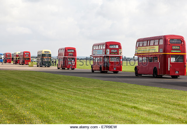 Parade of London Routemaster Buses - Stock Image