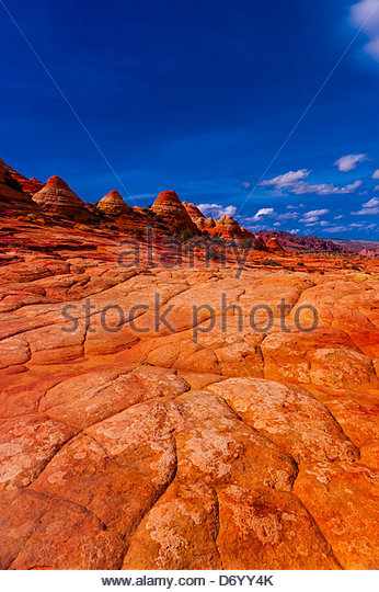 Coyote Buttes North, Paria Canyon-Vermillion Cliffs Wilderness Area, Utah-Arizona border, USA - Stock Image