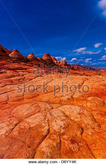 Coyote Buttes North, Paria Canyon-Vermillion Cliffs Wilderness Area, Utah-Arizona border, USA - Stock Image