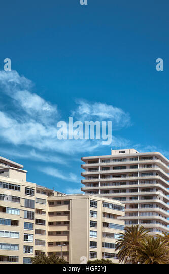 Sea Point Apartments - Sea Point - Cape Town - Stock Image