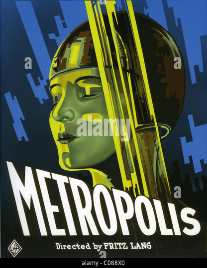METROPOLIS Poster for 1927 Universum Film directed by Fritz Lang - Stock Image