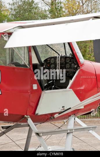 Cockpit of Christen A-1 Husky seaplane - Stock-Bilder