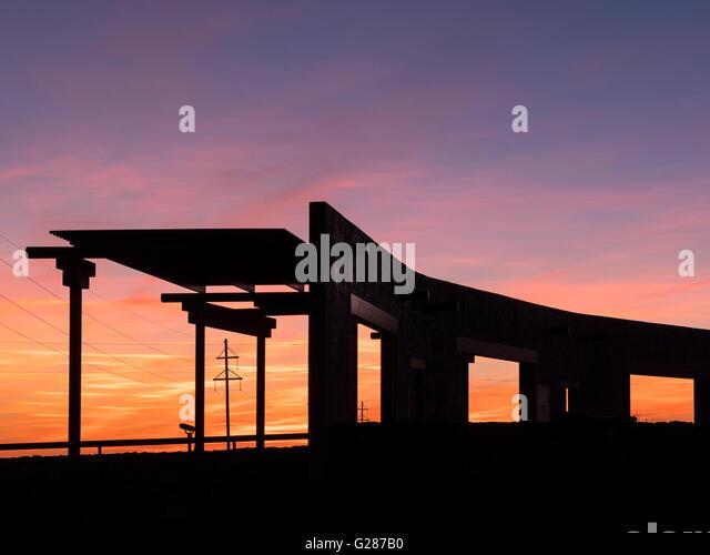 Marfa Lights Viewing Center, Marfa, Texas. - Stock Image