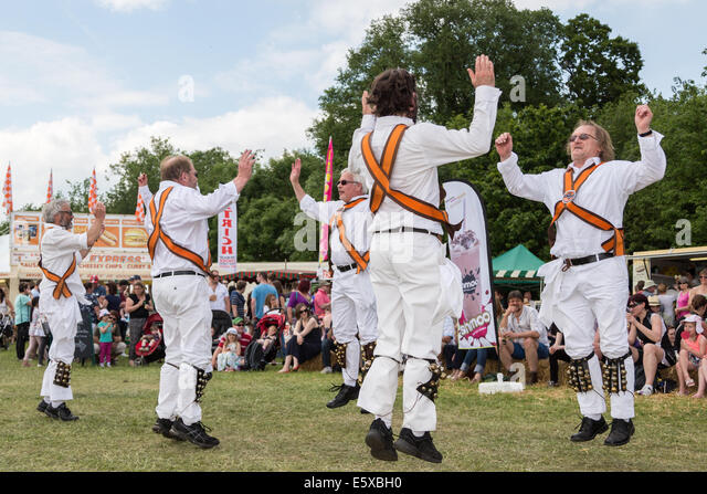 Morris Men performing at a county show in England - Stock Image