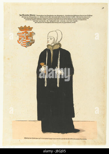 Marie de hongrie par Cornelis Anthonisz.jsp - Stock Image
