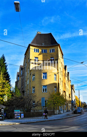 Building with an unusual shape, Nockherberg hill, Giesing, Munich, Bavaria - Stock Image