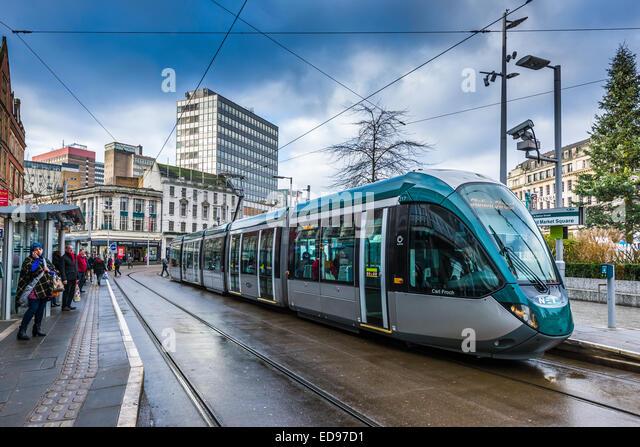 Nottingham Express Transit - Tram - Stock Image