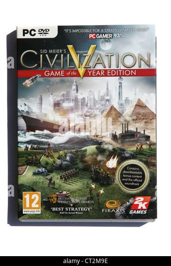 Sid Meier's PC game Civilization V - Stock Image