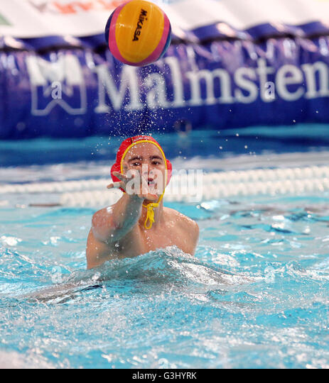 during the Men's Water Polo Olympic Games Qualification Tournament  match between Kazakstan v Germany (Photo - Stock Image