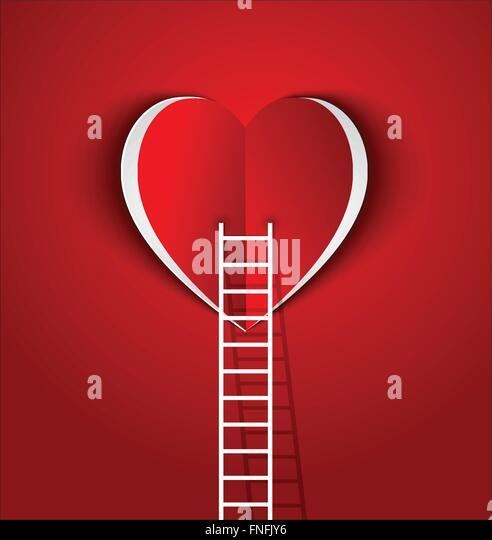 ladder to your heart-concept  symbol Love and relationship - Stock-Bilder