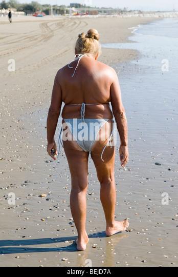 Older Woman In Bikini Stock Photos Amp Older Woman In Bikini Stock Images Alamy