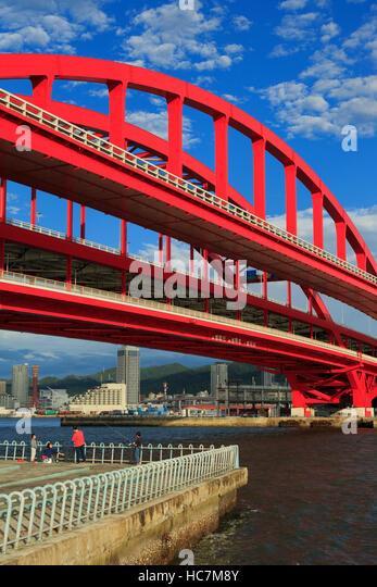 Ohashi Bridge, Kobe City, Honshu Island, Japan, Asia - Stock Image