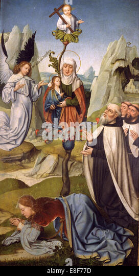 The Blessed Virgin Mary of Mount Carmel. Artist: Anonymous - Stock Image