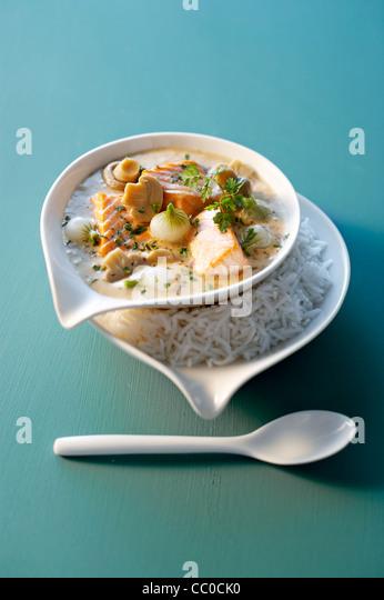 Salmon stew - Stock Image