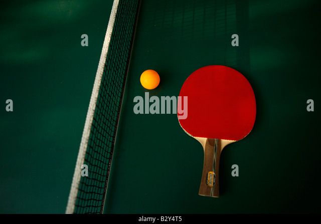 racquets, ping pong - Stock Image