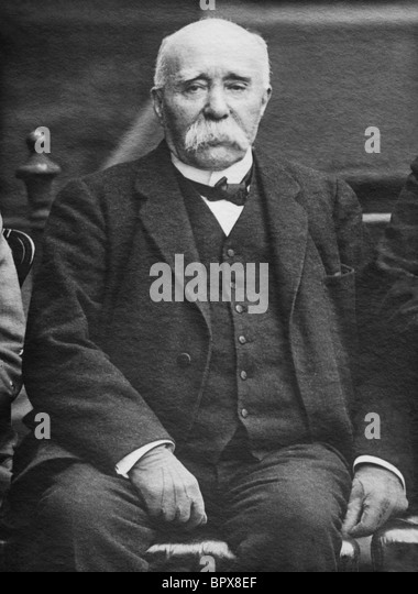 Portrait photo c1918 of French statesman Georges Clemenceau (1841 - 1929) - Prime Minister of France 1906 - 1909 - Stock Image