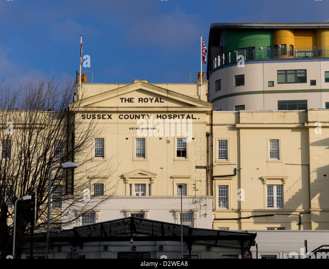 Royal Sussex County Hospital, Kemp Town, Brighton, East Sussex - Stock Image
