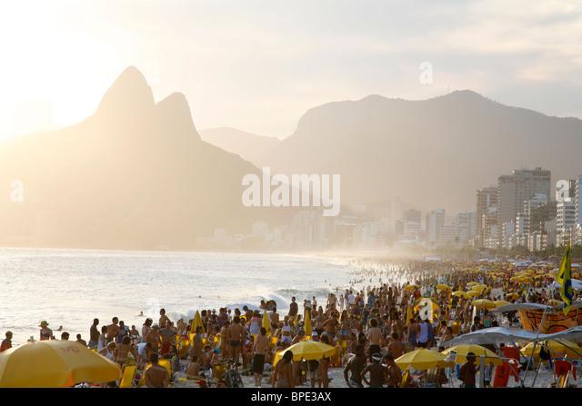 Ipanema beach, Rio de Janeiro, Brazil. - Stock Image