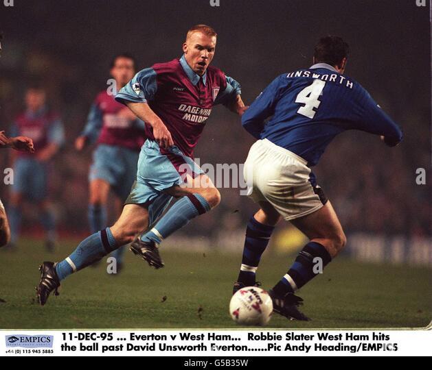 Everton V West Ham - Stock Image