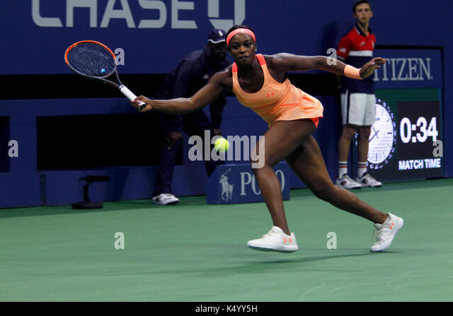 New York, United States. 07th Sep, 2017. US Open Tennis: New York, 7 September, 2017 - Sloane Stephens of the United - Stock Image