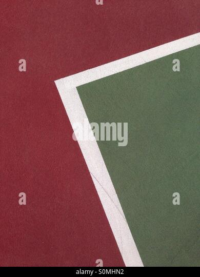Abstract lines on a tennis court - Stock-Bilder