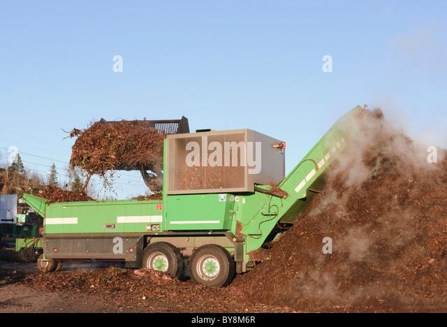 Industrial compost handling - Stock Image