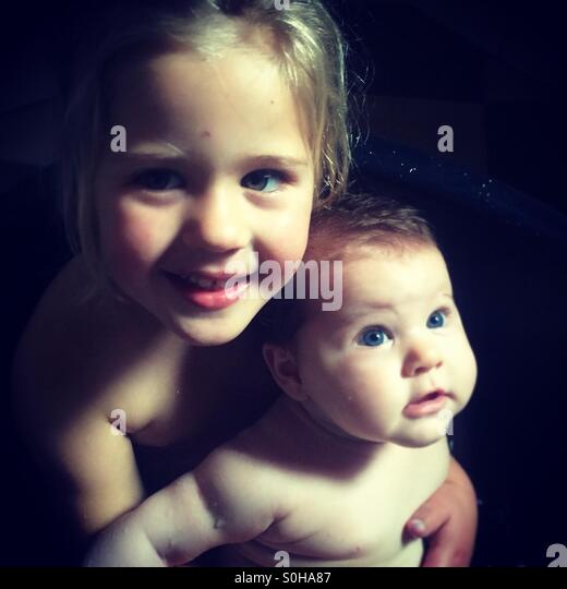 Sisters - Stock Image