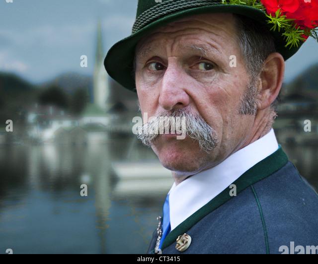 DE - BAVARIA: Portrait of a Bavarian Gentleman - Stock-Bilder