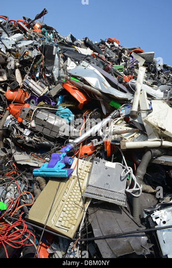 disposal of WEEE waste electronic and electrical equipment united kingdom - Stock Image