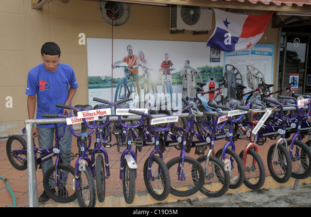 Panama City Panama Amador Bikes & More bicycle rental for rent business child's bike cycling recreation - Stock Image