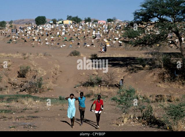 Namibia, Windhoek, Township of Katutura - Stock-Bilder