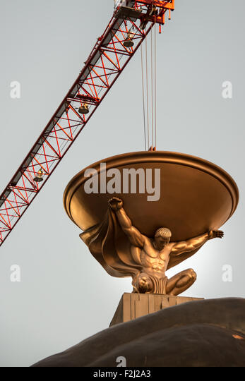 Low angle view of a statue, MGM Grand Las Vegas, Las Vegas, Nevada, USA - Stock Image