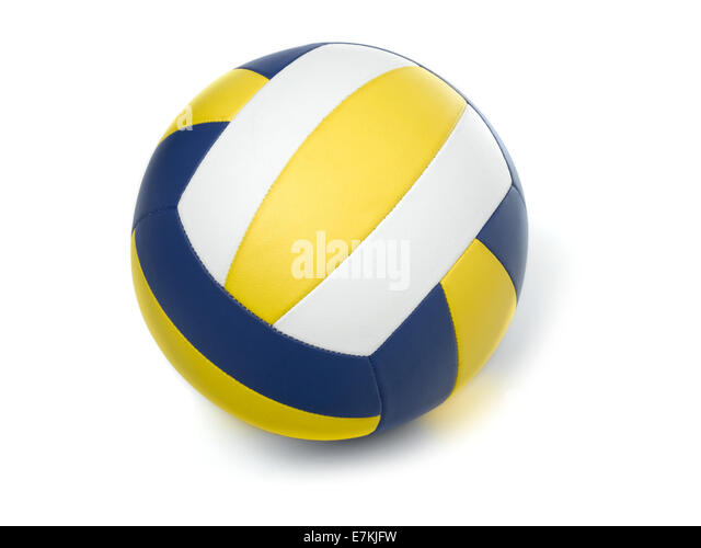 Volleyball ball on white - Stock Image