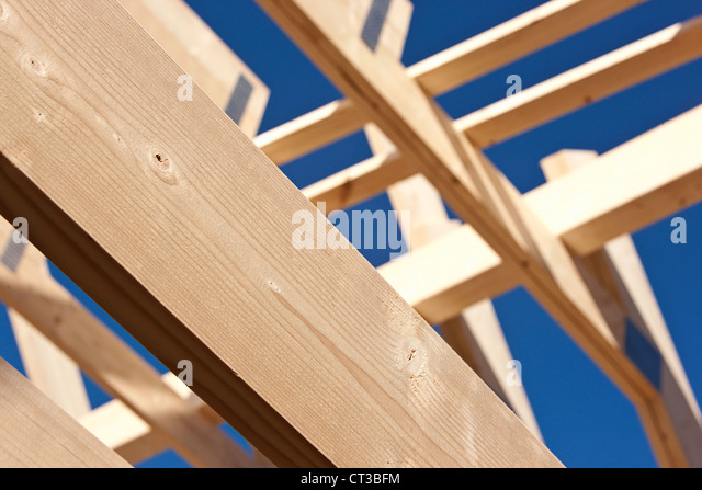 Close up of roof under construction - Stock Image
