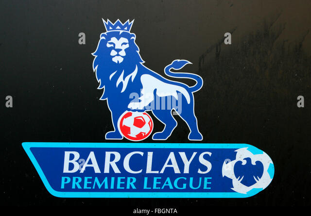 das Logo der Marke 'Barclays Premiere League', Berlin. - Stock Image