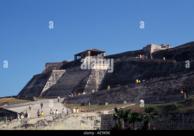 Cartagena Colombia South America San Felipe Fortress - Stock Image