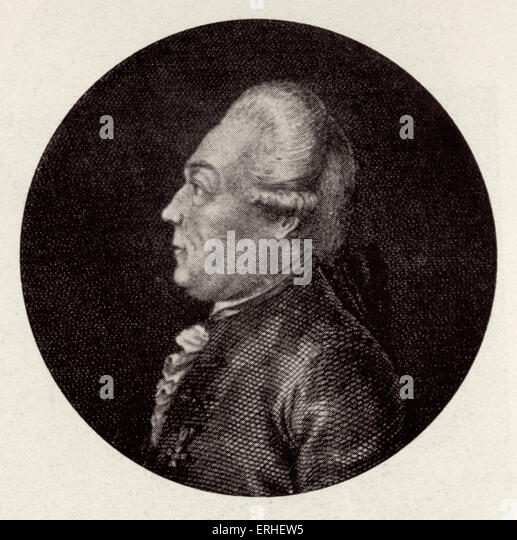 Gottfried Baron van Swieten -director of Imperial Hofbibliothek, Vienna. Profile 1734-1803.  Friend of young Beethoven, - Stock Image