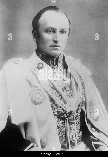 Vintage portrait photo c1900 of Lord Curzon (George Curzon, 1st Marquess Curzon of Kedleston) as Viceroy of India - Stock Image